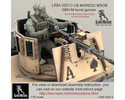 LRM35013 US MARSOC Marine Special Operations Battalion/ Navy Seals GMV-M turret gunner.