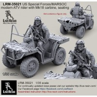 LRM35021 US Special Forces modern ATV Rider with Mk18 carbine, seated