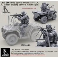 LRM35023 US Special Forces 2013 Modern ATV Rider, Mk48 machine gun shooting