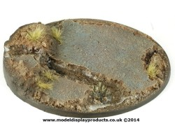 120mm Oval Rocky Themed Base