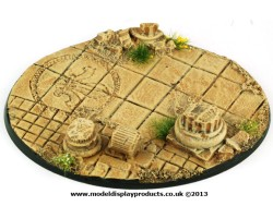 120mm Oval Ruined Chapel Base
