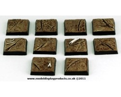 20mm x 20mm Square/Fantasy Cracked Earth Terrain Bases