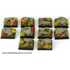 20mm x 20mm Square/Fantasy Rocky Terrain Bases
