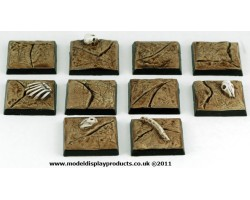 25mm x 25mm Square/Fanasy Cracked Earth Terrain Bases