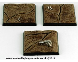 40mm x 40mm Square/Fantasy Cracked Earth Terrain Bases