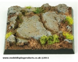 50mm x 50mm Square/Fantasy Rocky Terrain Base